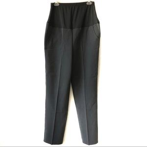 Gray Maternity Stretch Pants Belly Fit Trousers L